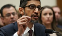 "WASHINGTON, DC - DECEMBER 11: Google CEO Sundar Pichai testifies before the House Judiciary Committee at the Rayburn House Office Building on December 11, 2018 in Washington, DC. The committee held a hearing on 'Transparency & Accountability: Examining Google and its Data Collection, Use and Filtering Practices.""  (Photo by Alex Wong/Getty Images)"