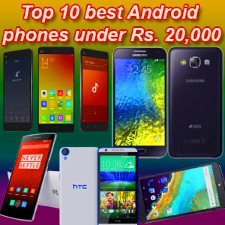 Best Mobile Phones under 20000