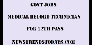 Govt-Jobs-Medical-Record-Technician-For-12th-pass