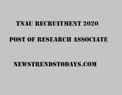 TNAU-Recruitment-2020