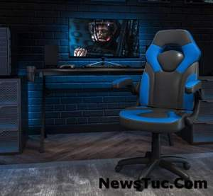 FlashLeatherSoft Flip-up Arms Adjustable Racing Gaming Chair