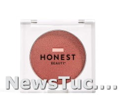 Foxy, Peachy Coral w, Gold Shimmer Honest Beauty Lit 0.14 Ounce Highlighter Powder Blush