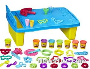 Play Table for Arts Play-Doh Play 'N Store Kids 2 Oz Cans 8 Non-Toxic Colors