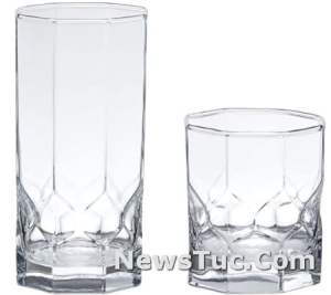 Old Fashioned and Coolers Amazon Basics Terrace Drinkware 16-Piece Glass Set