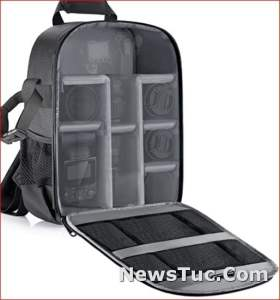 Gray Interior Neewer Camera Bag Water Resistant Shockproof Protection Backpack