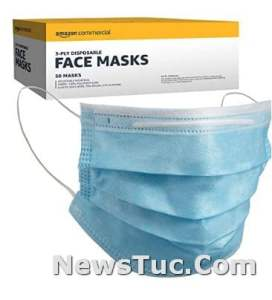 Commercial Amazon imported materials 50 per Pack 3-ply Disposable Face Masks