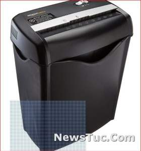 Home Office 6-Sheet Cross-Cut Paper and Credit Card Shredder