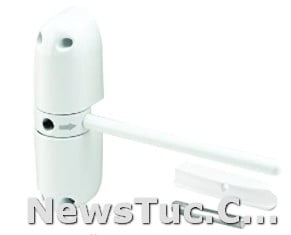 Adjustable closing speed Wright Products White Standard Duty 2 Hold End Plug Pneumatic Closer