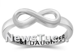 Eternity Knot Symbol Band JEWEL EXCESS Sterling Silver Infinity Women Ring