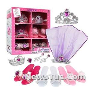 Accessories Click N' Play Girls Princess Dress-Up Shoes