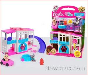 Playset 2-Sided Barbie Pet pocket-sized Dreamhouse Baby Toy Doll