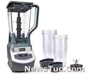 Frozen Drinks and Smoothies Ninja Professional with16 Oz Cups Gray Blender
