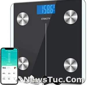 Rechargeable Smart Bluetooth Body Composition Analyzer Etekcity Bathroom Digital Weight and Body Fat Scale