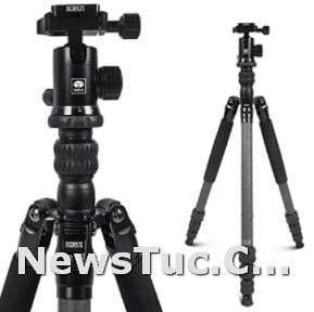 Ball Head 65.55 inches with 360° Panorama SIRUI Traveler Tripod Stand