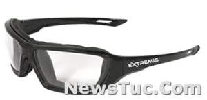 Extremis Full Black Frame Anti-Fog with Clear Lens Radians Safety Glasses