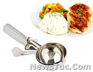 Stainless Steel Disher Met Lux 4 Ounce Durable Cupcake Batter Ice Cream Cookie Scoop