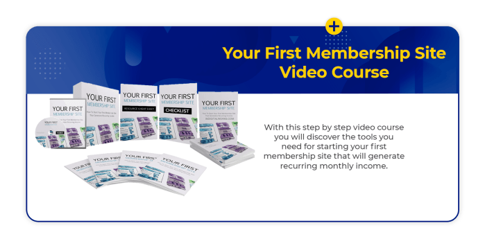Membership site Video course