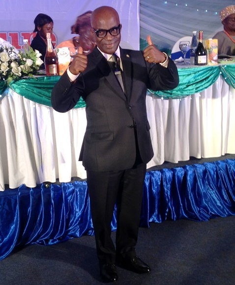 Kayode Okunore appreciating well-wishers at the event