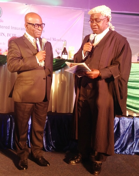 Kayode Okunore, taking oath of office as the 18th President of NCRIB on Thursday in Lagos