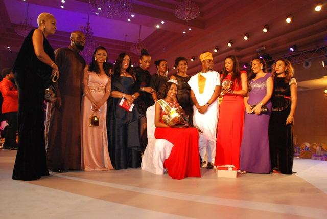 L-R: Ruth Osime, Audu Maikori, Chioma Ude, Wunmi Ogunbiyi,  Halen Prest Ajayi, Bestty Irabor, Jumoke Adenowo, Adebola Williams, Isoken  Ogiemwonyi, Mariam Mohammed with The New Miss Nigeria 2015