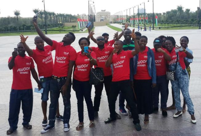 Winners of the UBA Remittance Awoof Promo in Dubai, United Arab Emirates, enjoying a day out as part of their 3-day all expense paid trip sponsored by  United Bank for Africa Plc in appreciation of customers who received MoneyGram and Western Union money transfers through the Bank