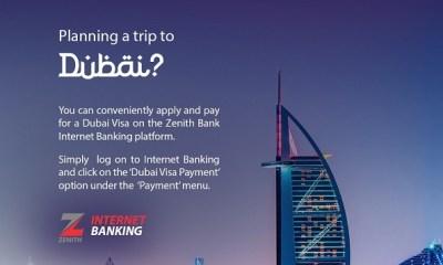 Zenith Bank introduces online Visa application to Dubai