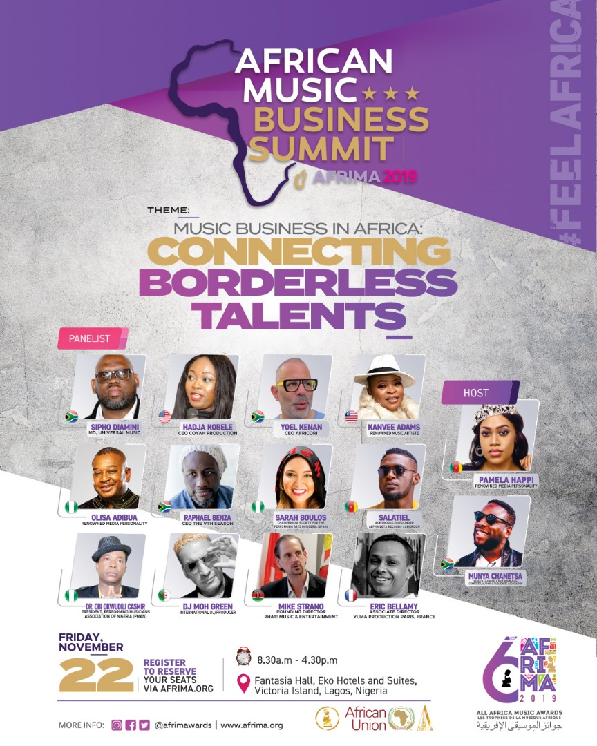 6TH AFRIMA: Sipho Dlamini, Sarah Boulos others to speak at the Africa Music Business Summit