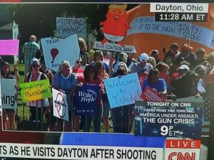 Trump visits Dayton, Ohio