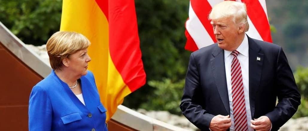 Angela Merkel Snorts as Donald Trump Says He Has 'German in My Blood'