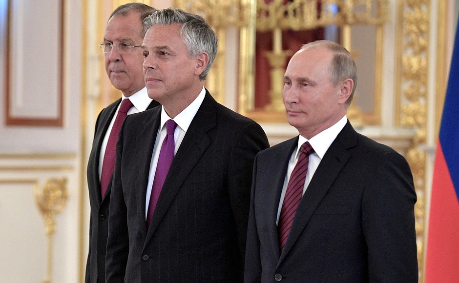 Ambassador to Russia Jon Huntsman has resigned his post.