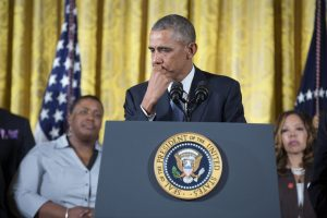 A real leader, President Obama, addresses a group of mayors