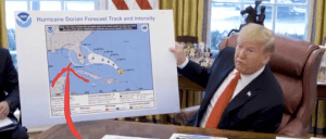 Trump shows altered hurricane map to include Alabama