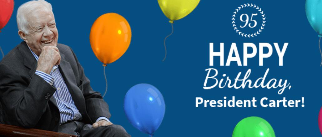 Oldest living president, Jimmy Carter, turns 95
