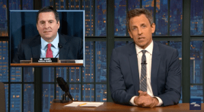 """Seth Meyers- A Closer Look: """"Hey man, I guarantee you no one wants nude pictures of Donald Trump."""""""