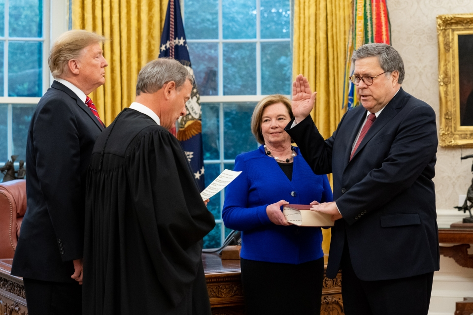 Billy Barr accuses 'leftists' of 'waging a scorched-earth, no holds-barred war' against Trump