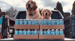 Doggies Deliver Beer and Smiles