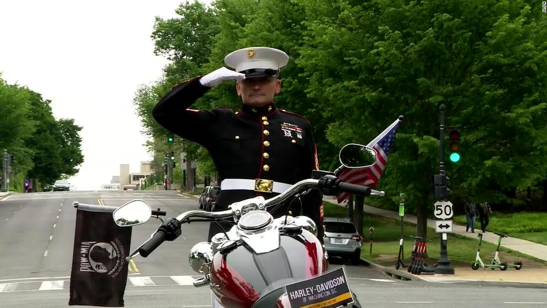 Retired Marine spent Memorial Day weekend saluting for 24 hours to raise awareness about veteran suicide