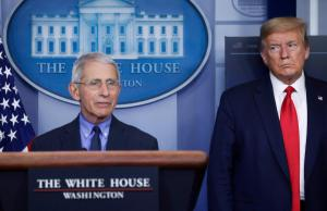 "Trump claims Dr. Fauci's comments on re-opening the the country too soon as ""not an acceptable answer"""