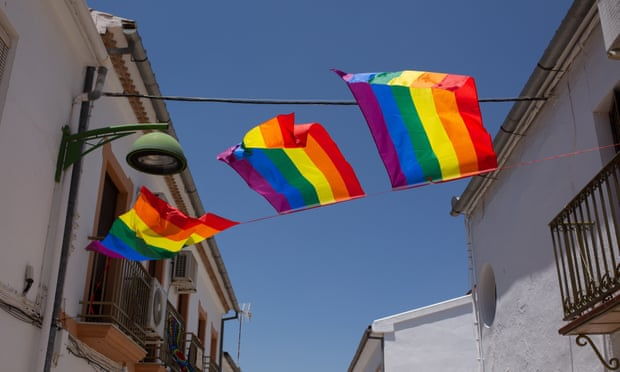 Hundreds of pride flags fill Spanish town after the one on town hall removed