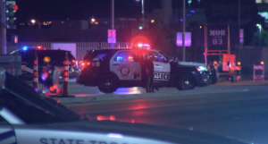 Las Vegas police officer on life support, suspect in a second shooting dead.