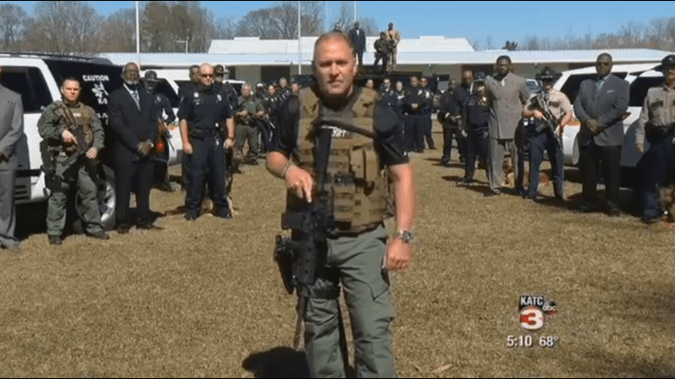 Rep. Clay Higgins (Idiot-La.)  willing to shoot any armed demonstrators: 'I'd Drop Any 10 Of You'