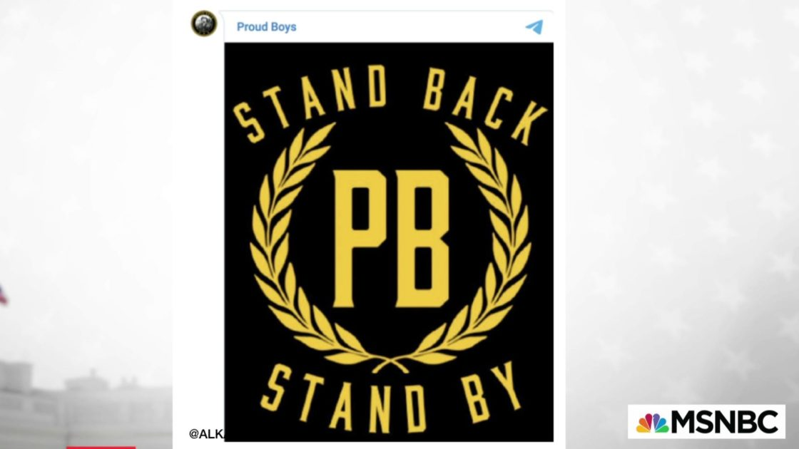 Trump just gave The Proud Boys their marching orders
