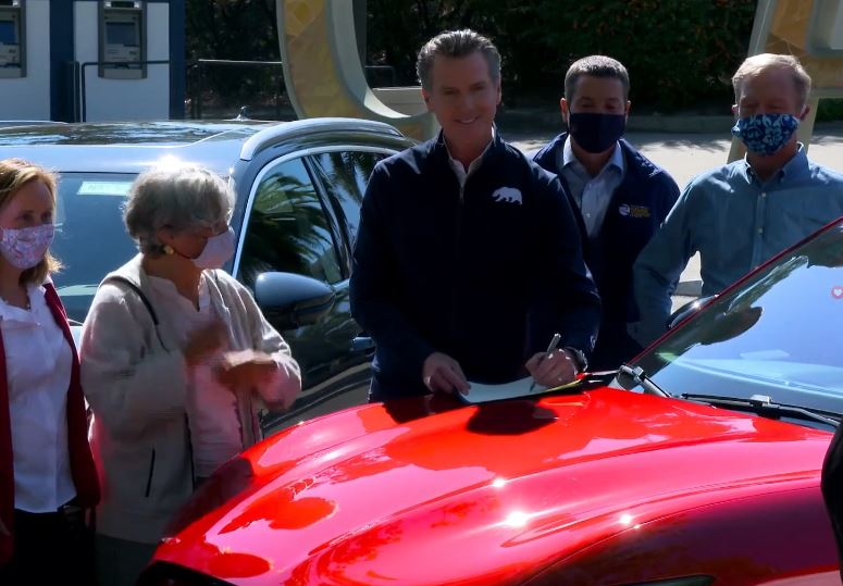 CA Governor Newsom issues an executive order restricting new car sales to zero-emissions by 2035
