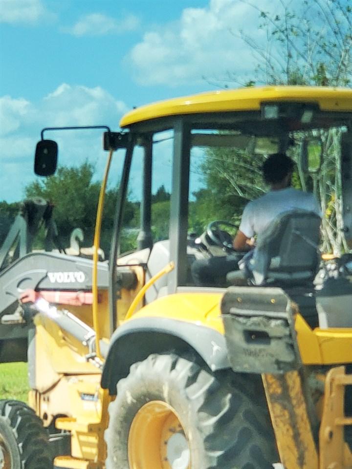 Florida Man Stole a Bulldozer, Knocked Down a Fence and Stole Biden Signs