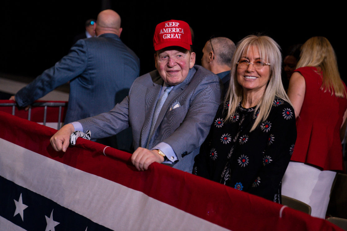 Adelsons give $75M to Preserve America PAC in attempt to save the floundering Dotard
