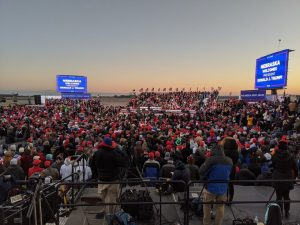Real-Life Metaphor:  Trump Rally Fans  Left Stranded In The Cold In Omaha