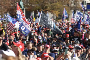 Thousands of maskless MAGAts march through D.C. falsely claiming Trump won the election
