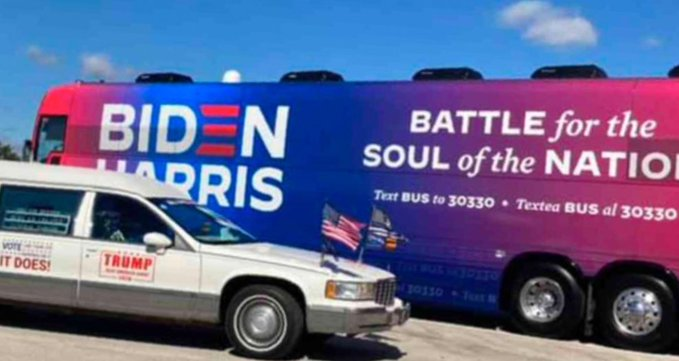 MAGAts swarm a Biden Bus in Texas; campaign event cancelled for security reasons