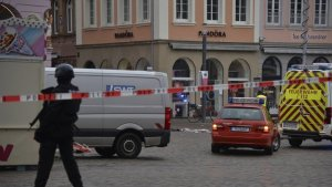 Car ploughs into a crowd of people in Trier, Germany; two killed, 15 injured