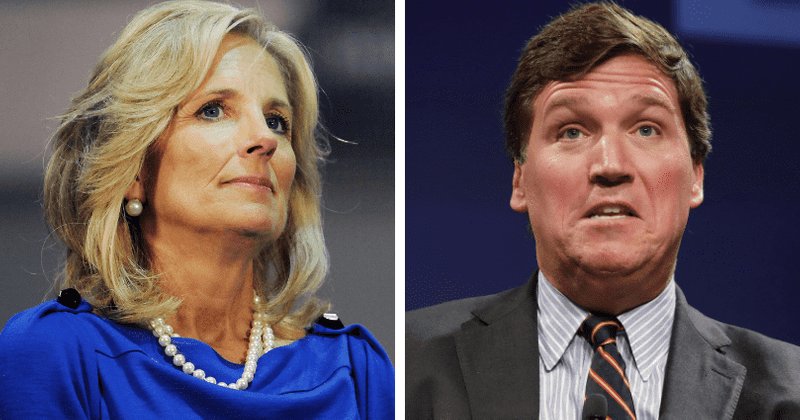 Racist and Misogynistic Tucker Carlson Calls Jill Biden 'Illiterate,' 'Not Very Bright' and Says She 'Can't Think Clearly'